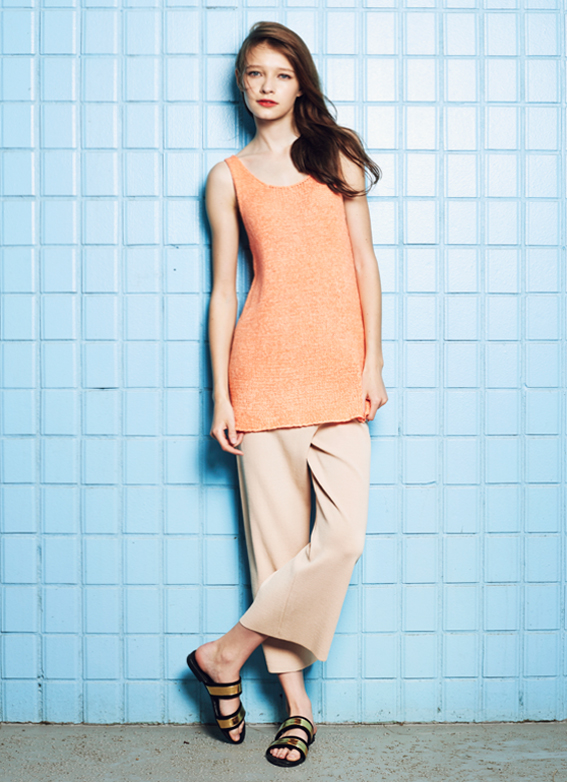 Sleeveless Knit Top & Resort Knit Trousers