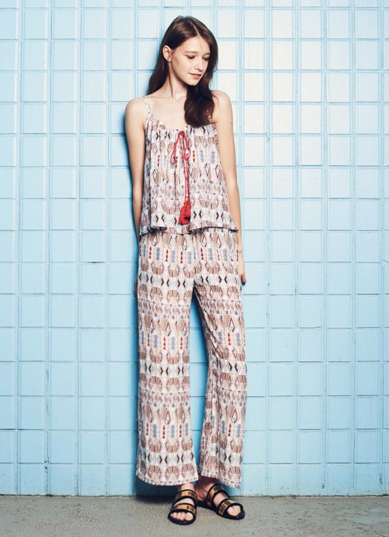 Geometric Top & Trousers