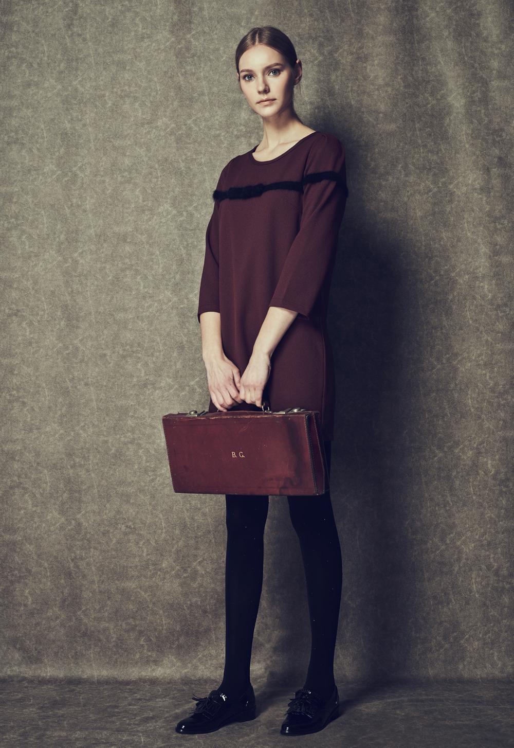 Angora Bow Dress
