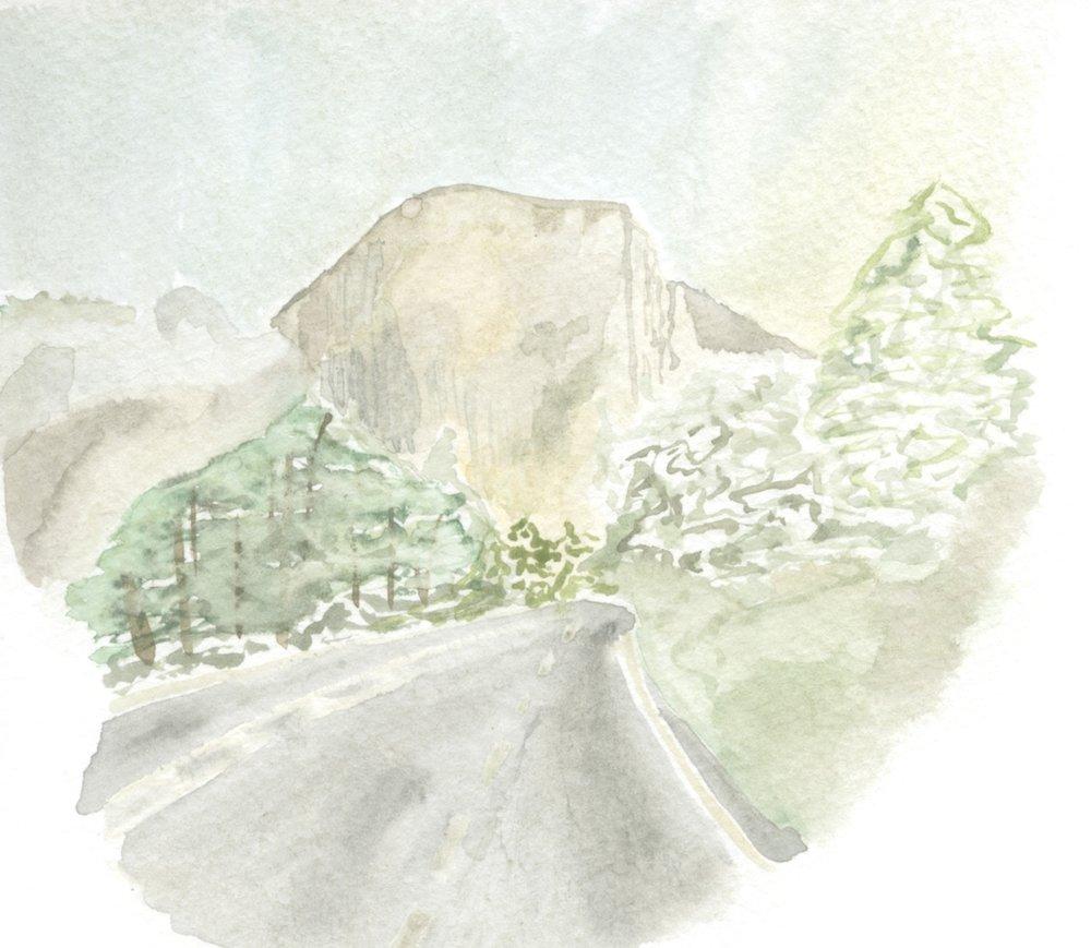 El Cap Watercolor