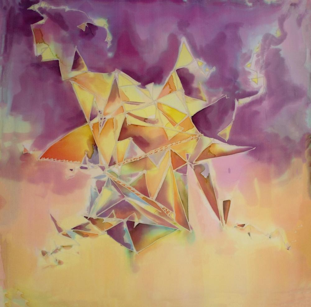Purple with Yellow Geometric