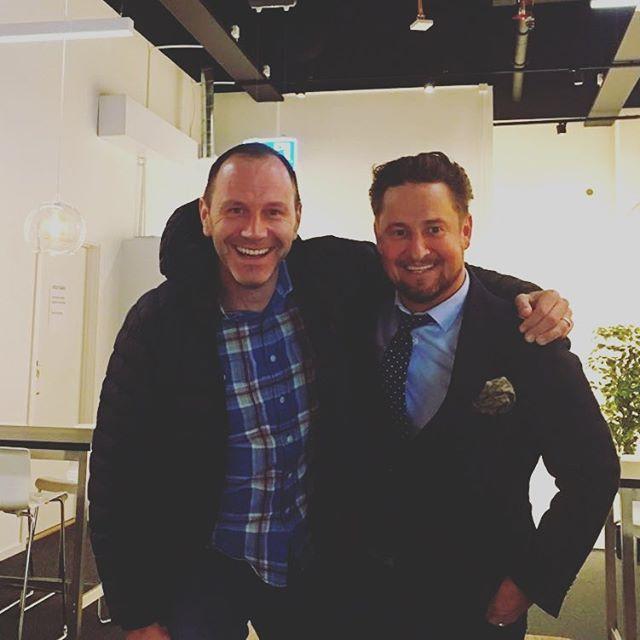 Tillsammans med Jonas Eriksson. #neveroffside #svenskfotboll #vmDomare