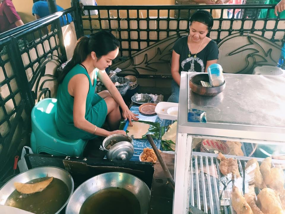 Getting a lesson in making Filipino empanadas in Vigan. Photo: Chris Vacca