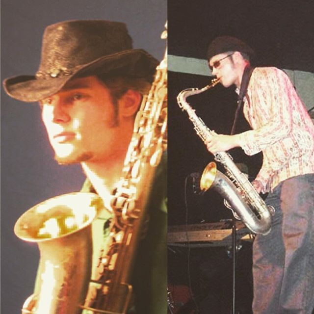 #tbt ~2003, when I was making a living as a stylistically-challenged #sax man