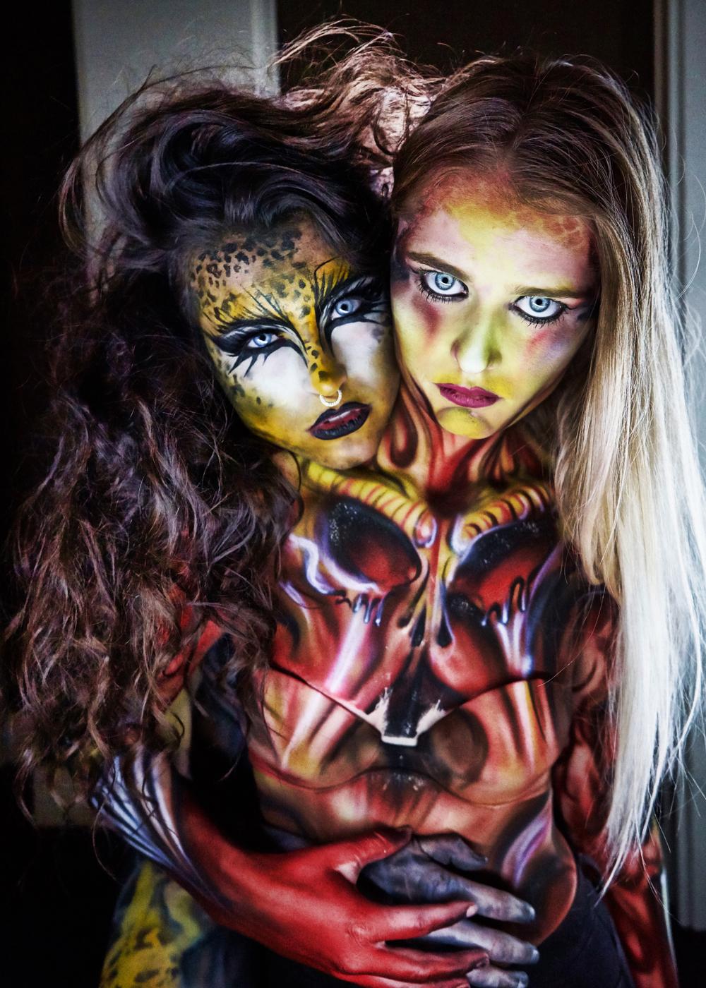 2 headed monster body paint