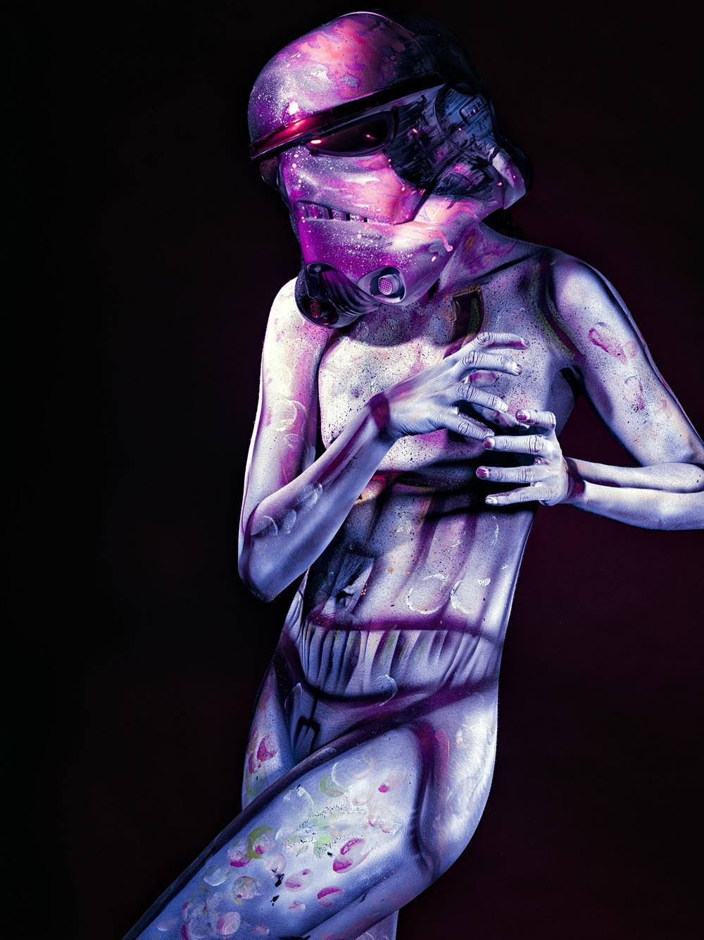body art storm trooper painting