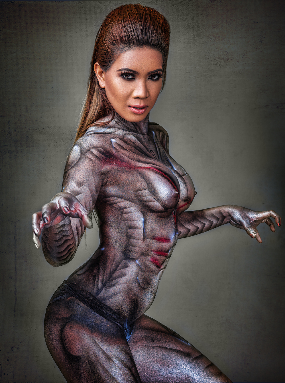 Ultron BOdy paint cosplay