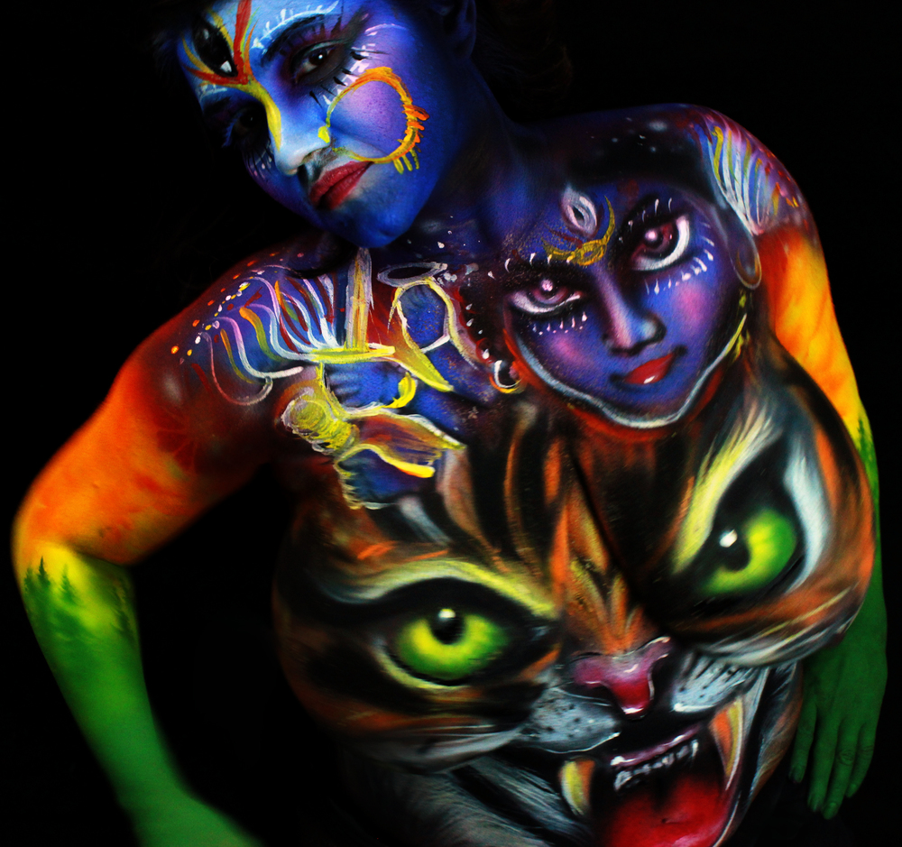 hindu goddess body art