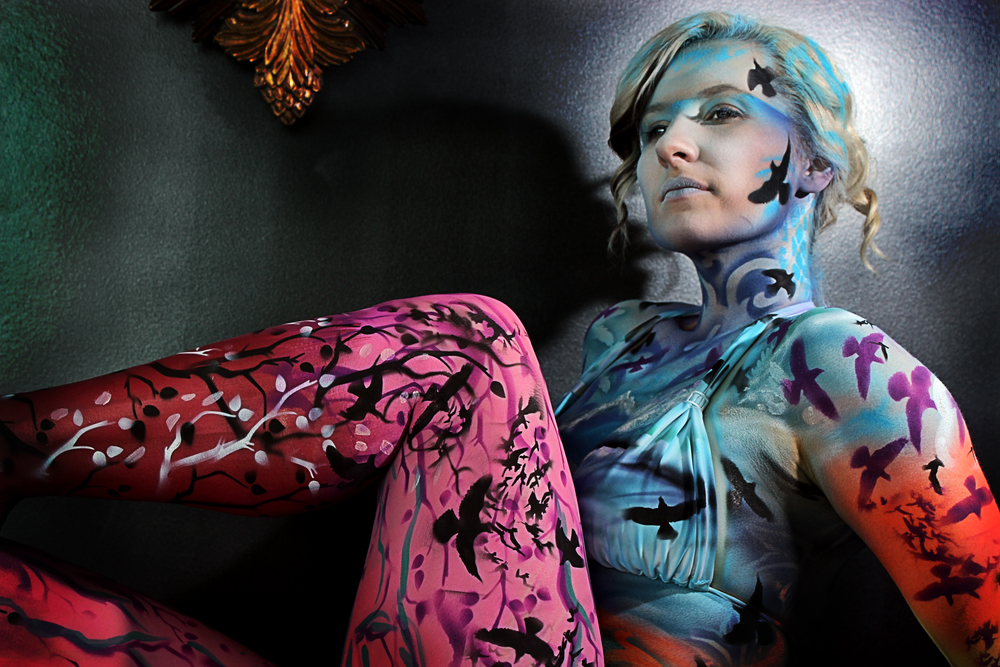 murder of crows body painting