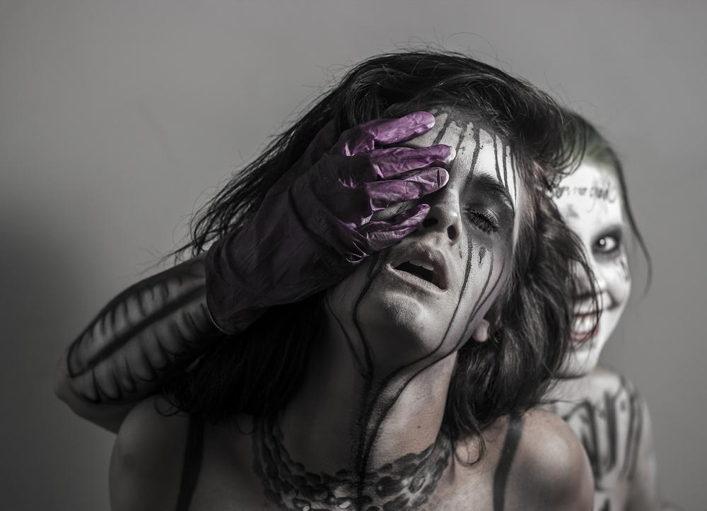 Joker suicide squad body paint