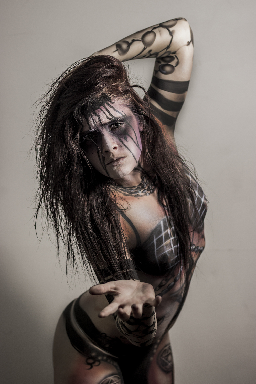 Enchantress suicide squad body painting