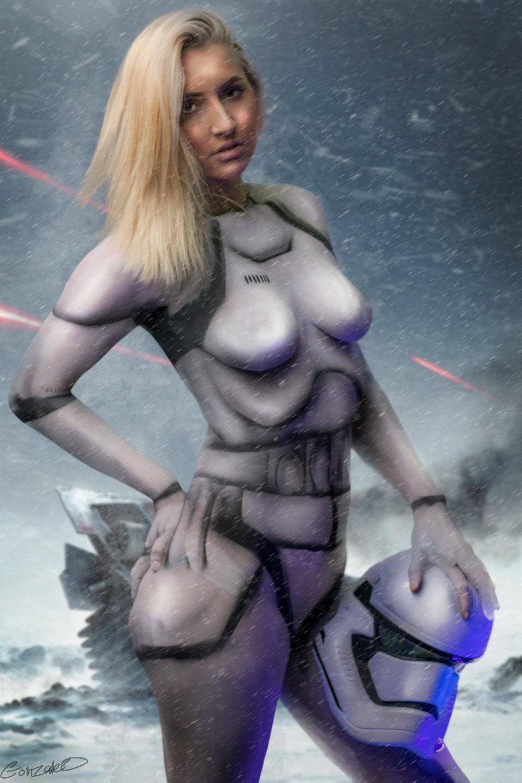 storm trooper body paint
