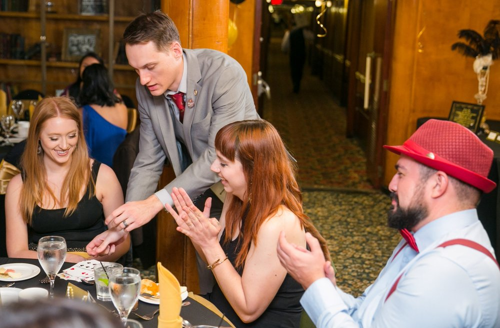 Nick Paul performing close up magic for a corporate event in California.