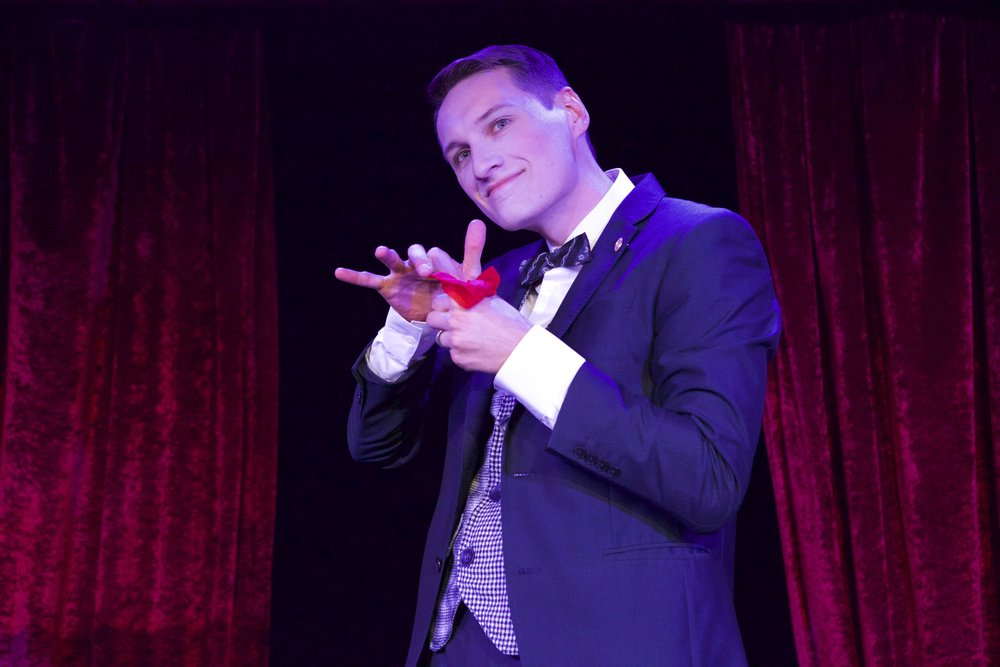 Nick Paul performing at the world famous Magic Castle in Hollywood.