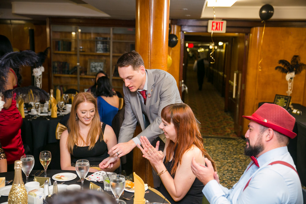 Nick Paul performing magic at a corporate event on The Queen Mary in Long Beach, CA.