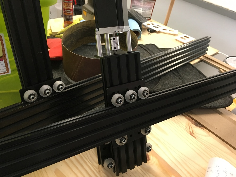 Ok, my Z axis fit well on my Y axis, but, my screws are to small to be able to put my plate on the back, need screws and spacer.  The 20x60 for my Y axis feel a little small, even if it doesn't move, i will switch to a 20x80.  The Y axis fixation to the X axis, totally forgot to buy corners to attach it, and as i'm switching from a 20x60 to a 20x80, i will need more. Beside that. everything is working according to plan.