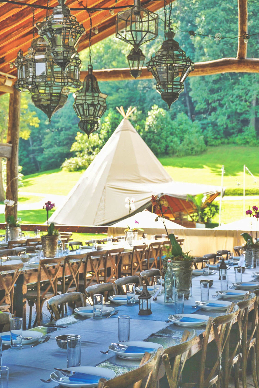 Simone + Danny's Moroccan Mountain Wedding in Asheville | Indah Events Tipi Rental