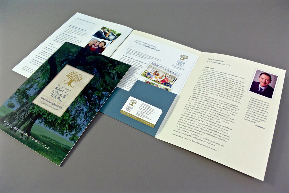 Corporate Pocket Brochure with Inserts
