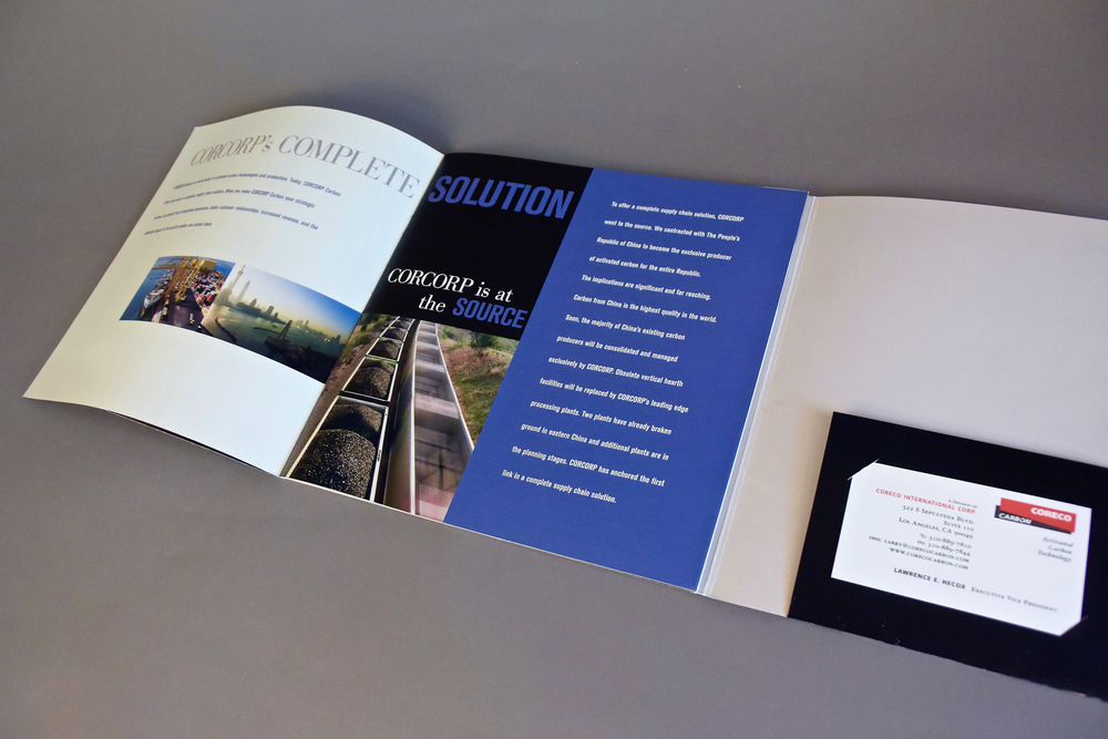 Product Brochure with Literature Pocket