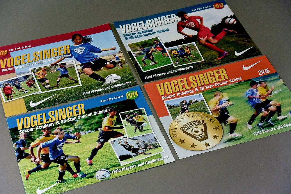 Summer Soccer Camp Brochure Covers