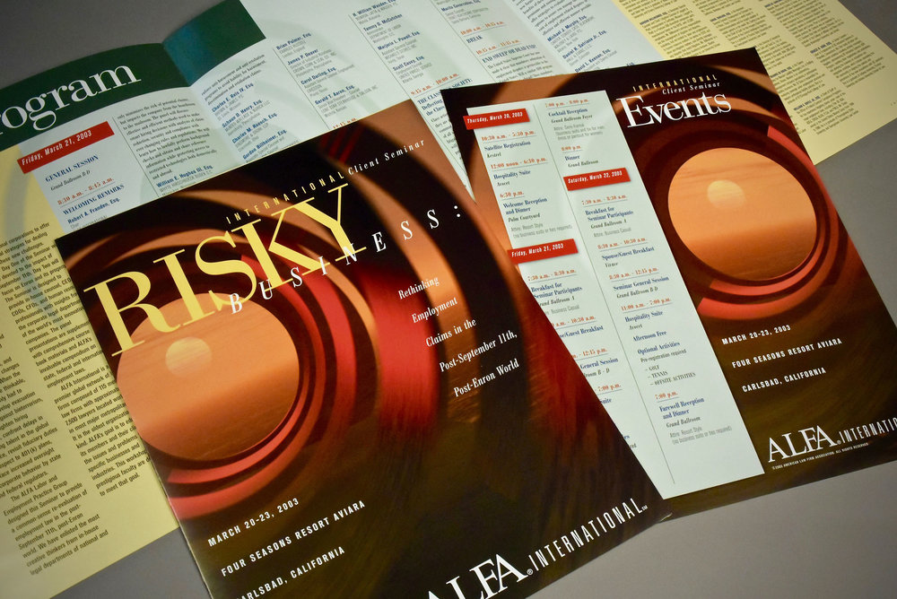 American Law Firm Association Seminar Brochure