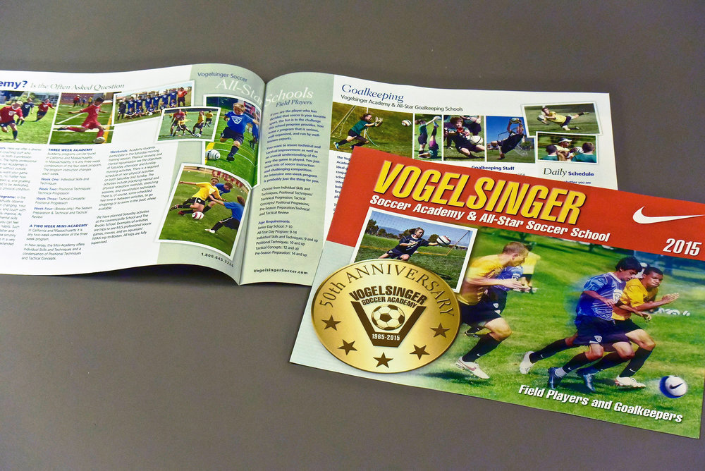 Summer Soccer Camp Brochure with 50th Anniversary Medallion