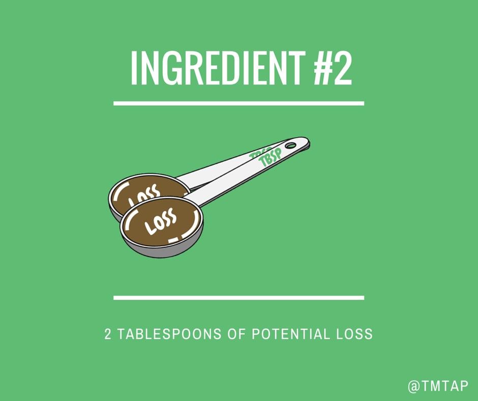Ingredient #2:  2 Tbsp. of Potential Loss
