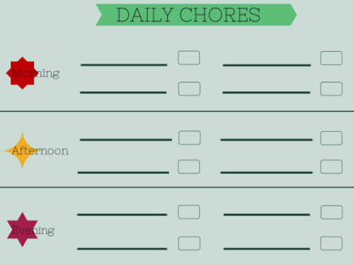 Free Calendar Download For Weekly Chore Schedule