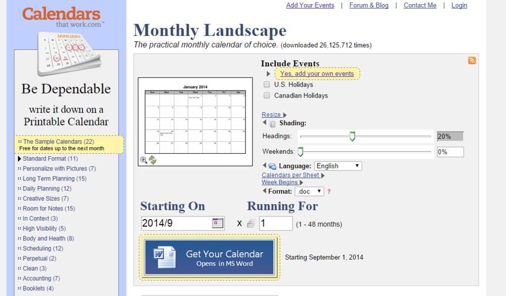 CalendarsThatWork.com