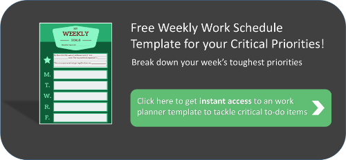 a weekly work template to improve your priority management