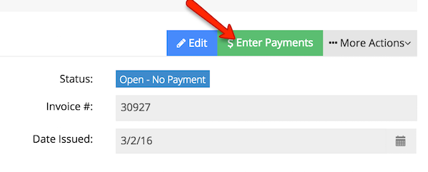 Enter in a Payment for your client