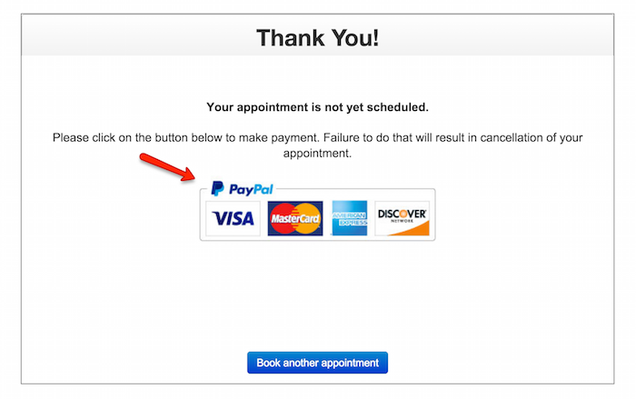 Clients can submit payment to secure appointments with you