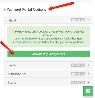 Activate a payment portal