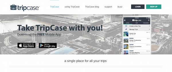 Screenshot via Travel.TripCase.com