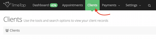 "Click on the ""Clients"" tab"
