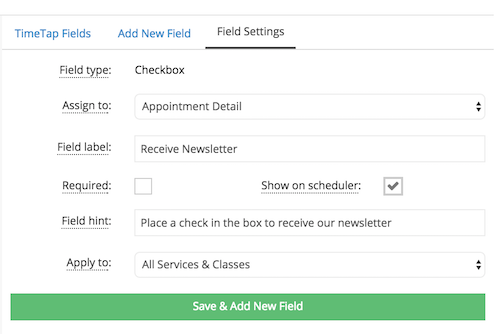 Adding a checkbox field