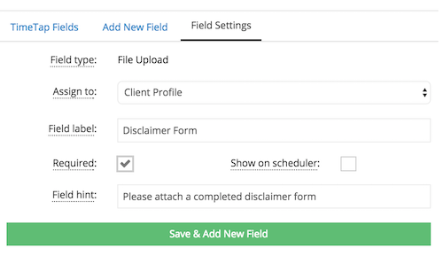 Adding a file upload field