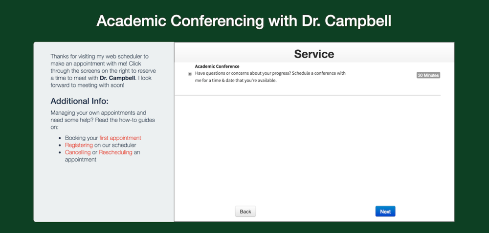 A view of academic conferencing as a service on your web scheduler