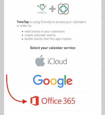 "Choose ""Office 365"""