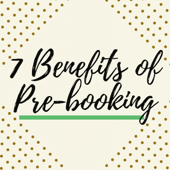 Twitter Shareable - 7 Benefits of Pre-Booking