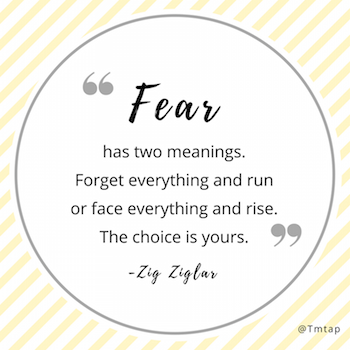 "Fear - ""Forget Everything And Run"" or ""Face Everything And Rise"""