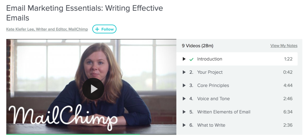 "Kate Kiefer Lee's ""Email Marketing Essentials: Writing Effective Emails"" Skillshare course"