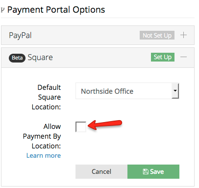 Businesses with multiple locations can receive payments for each appropriate location