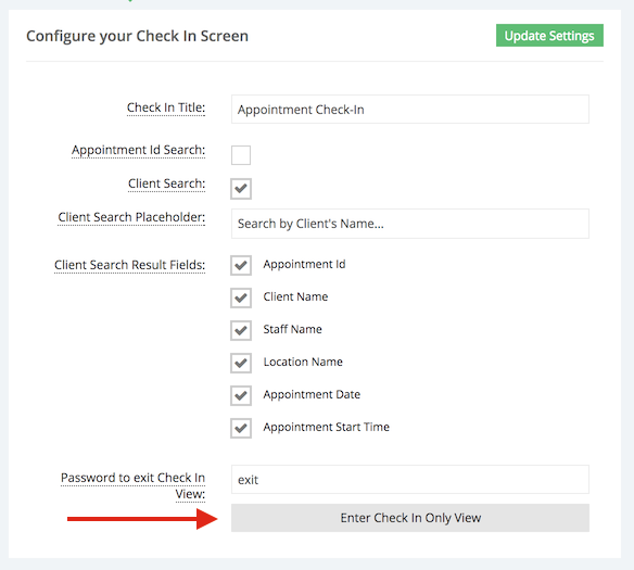 Test out your Check In Screen to make sure all looks well