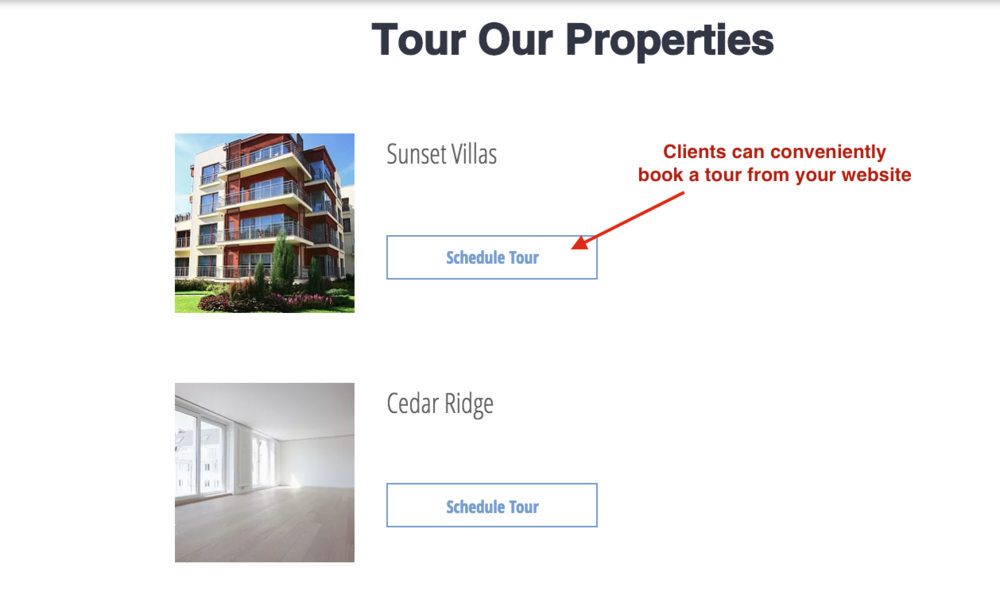 Easy booking for tours from your website