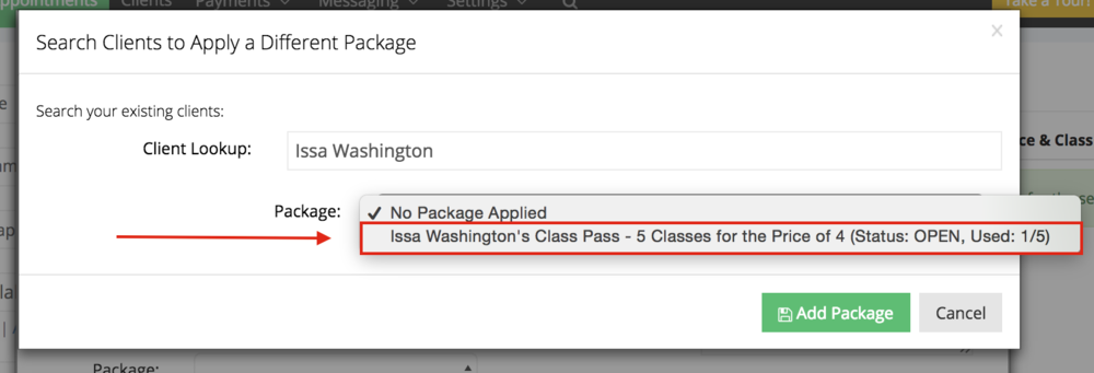 Select the appropriate package
