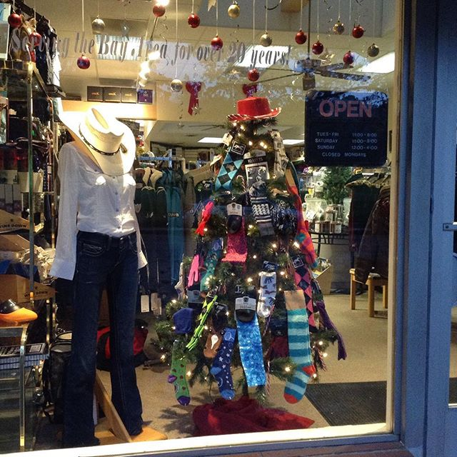 Front window is feeling festive! #cowboychristmas #tackshop #horsesofinstagram #horsestuff #equestriansofinstagram #christmaswindow