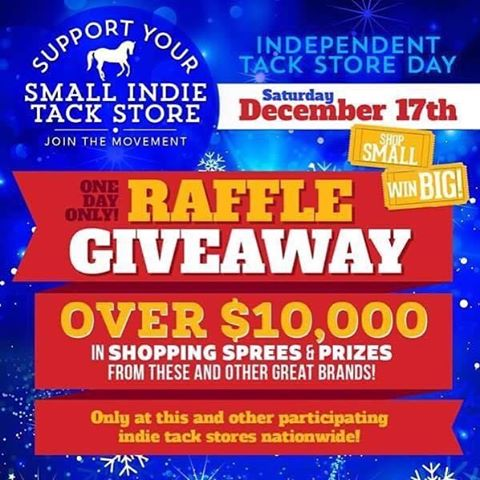 @orindavillagehorseshop is excited to be a part of this amazing day of giveaways! Come in Saturday December 17th and enter to win over $10,000 in shopping sprees from companies like @perrisleather @ariatinternational @toklatoriginals @majykequipe @ovationriding @veredusofficial @onekhelmets @shockemohle @waldhousen and more!! #shopsmall #winbig #indietackstore #equestriansofinstagram #bayareahorses #horsegifts #barnparty #tackshop #rootd #giveaway