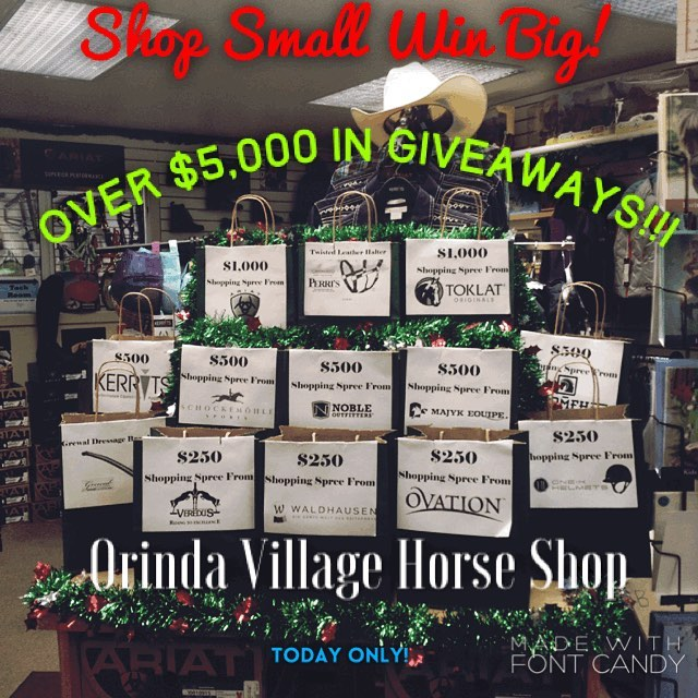 Support Your Indie Tack Shop! Today Only stop by Orinda Village Horse Shop and enter over $5,000 in Shopping Spree Giveaways!! #giveaway #rootd #tackshop #shopsmall #shoplocal #equestriansofinstagram #orinda #bayareahorses #shoppingsprees #ariat #toklat #onekhelmets #perrisleather #veredusboots #kerrits #ovationequestrian #majykequipe #nobleoutfitters #romfh #schockemöhle #grewalequestrian #waldhausen