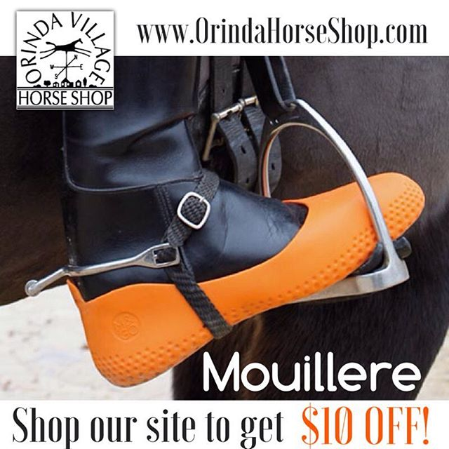 Mouillere Rubber Boot Covers are a colorful way to extend the life of your boots while protecting them from water, mud, snow and sand. Shop our website to get $10 off! www.OrindaHorseShop.com/shop  #mouillere #bootprotection #rubberboots #bootcovers #playintherain #orinda #shoecovers